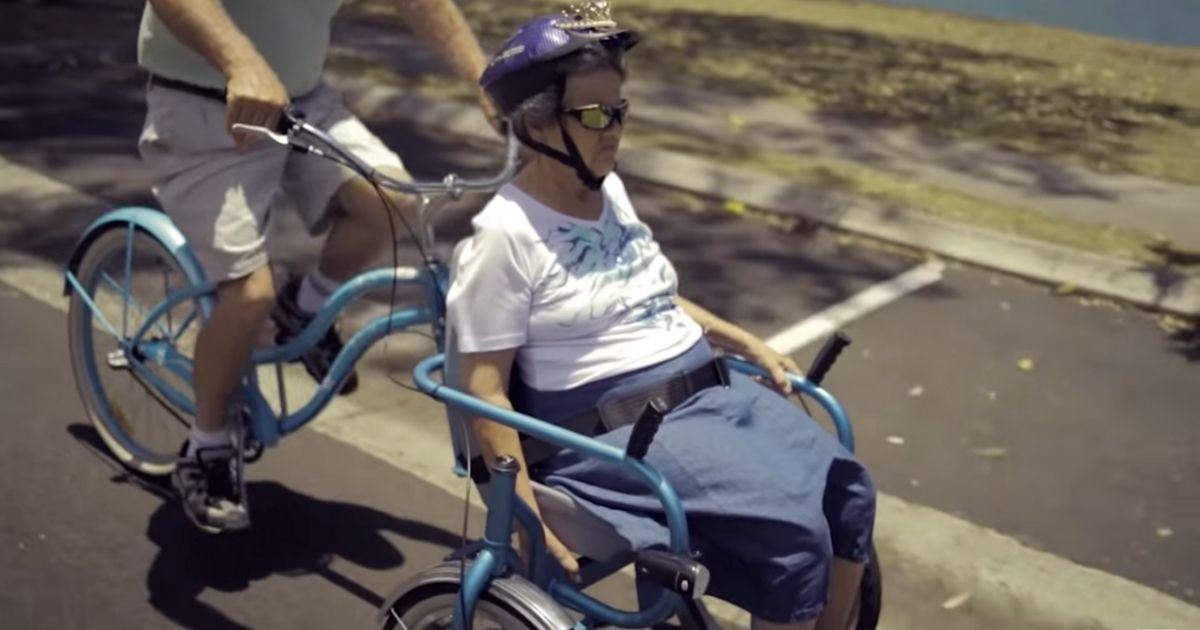 Design sem nome 1 1 - Marido inventa uma bicicleta especial para passear com a esposa com Alzheimer