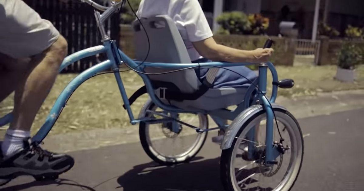 Design sem nome 3 1 - Marido inventa uma bicicleta especial para passear com a esposa com Alzheimer