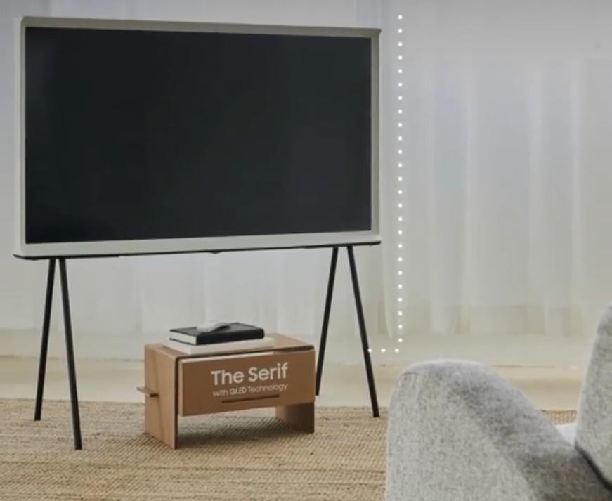 2020 04 22 5 - Caixas de TV sustentáveis da Samsung podem se transformar em casinha de gato e outros móveis