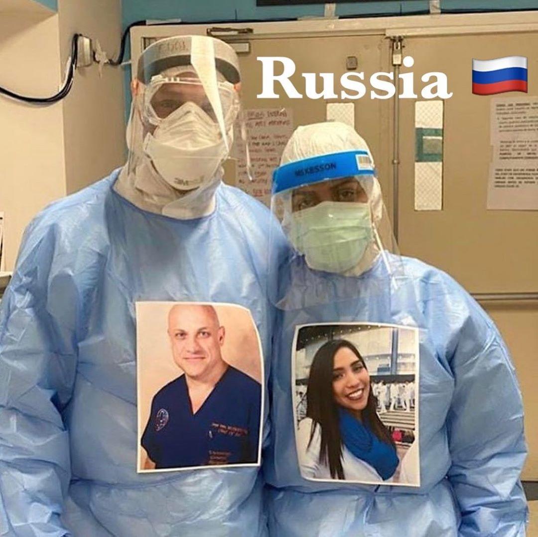 93358101 510344569641038 22291024741762027 n - Profissionais da saúde colocam fotos sorrindo em suas roupas para humanizar atendimento a covid-19