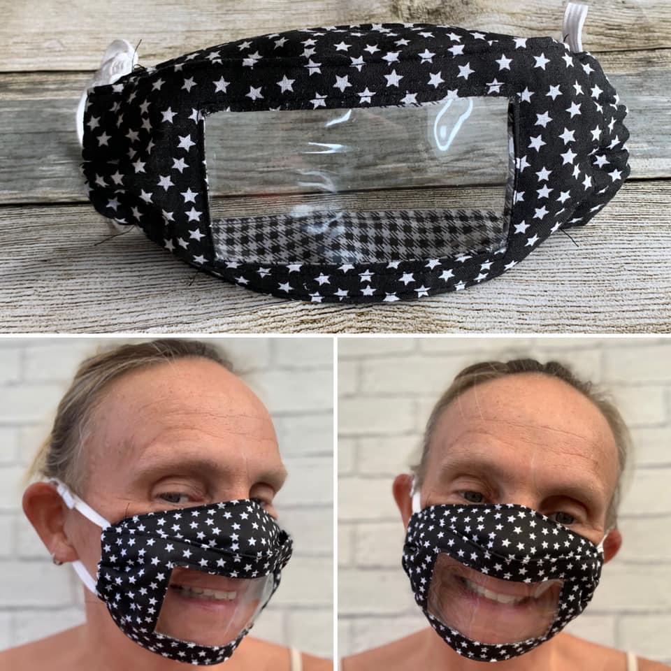 100680491 10158296394623149 3050683985807015936 n - Mãe surda cria máscaras com janela transparente para leitura labial da filha também surda