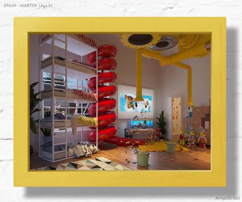 02b Spain dream kids bedroom 3D - Designers projetam quartos dos sonhos imaginados por crianças ao redor do mundo