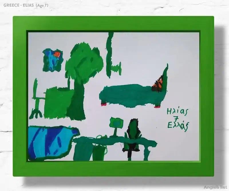04a Greece dream kids bedroom Drawing - Designers projetam quartos dos sonhos imaginados por crianças ao redor do mundo
