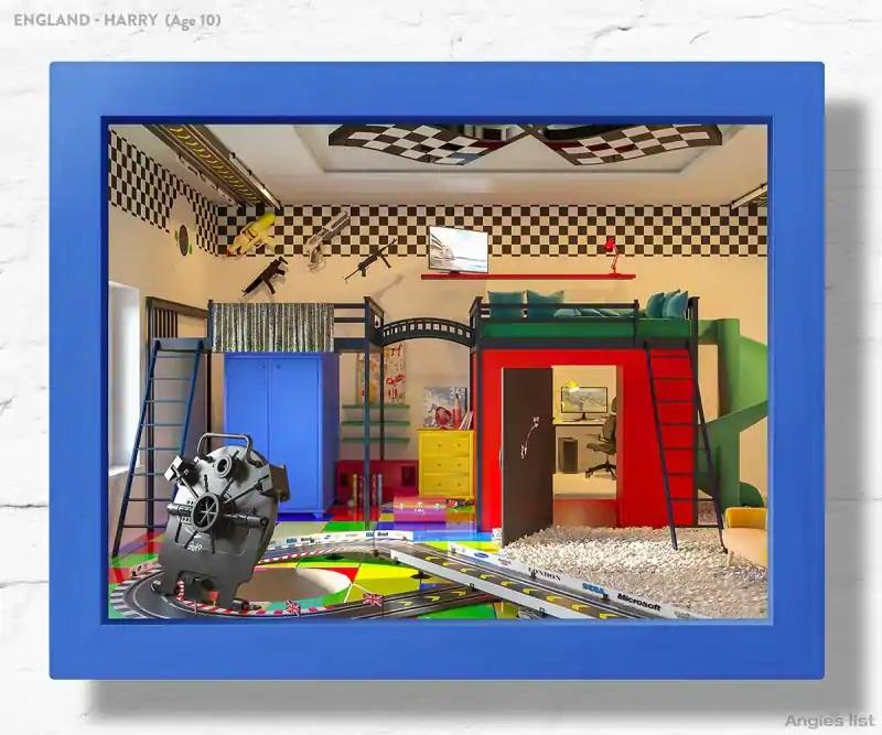 06b England dream kids bedroom 3D - Designers projetam quartos dos sonhos imaginados por crianças ao redor do mundo
