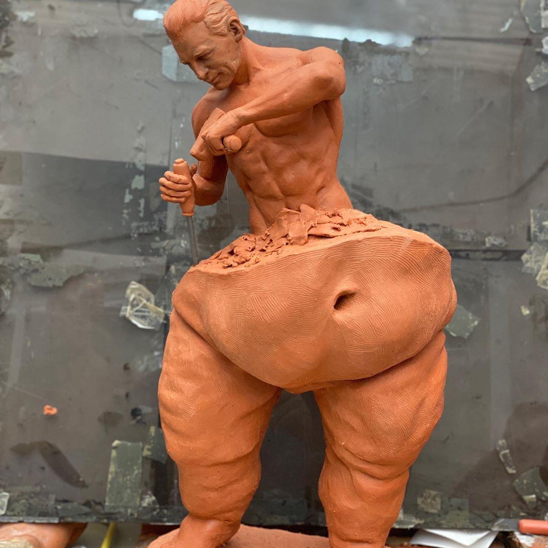120127037 353819515770913 1220611347330116444 n - Esculturas deste artista mexicano mostram o trabalho árduo para conquistar o 'corpo perfeito'