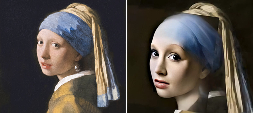 This digital artist brought to life the characters of 7 famous paintings using a neural network 5f04247de7820 png 880 - Artista cria rostos realistas a partir de pessoas de 7 pinturas famosas