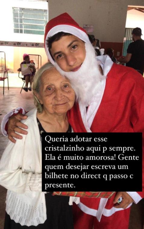 2020 11 26 2 - Adolescente patrocina mais de 50 idosos de uma casa de repouso para o Natal