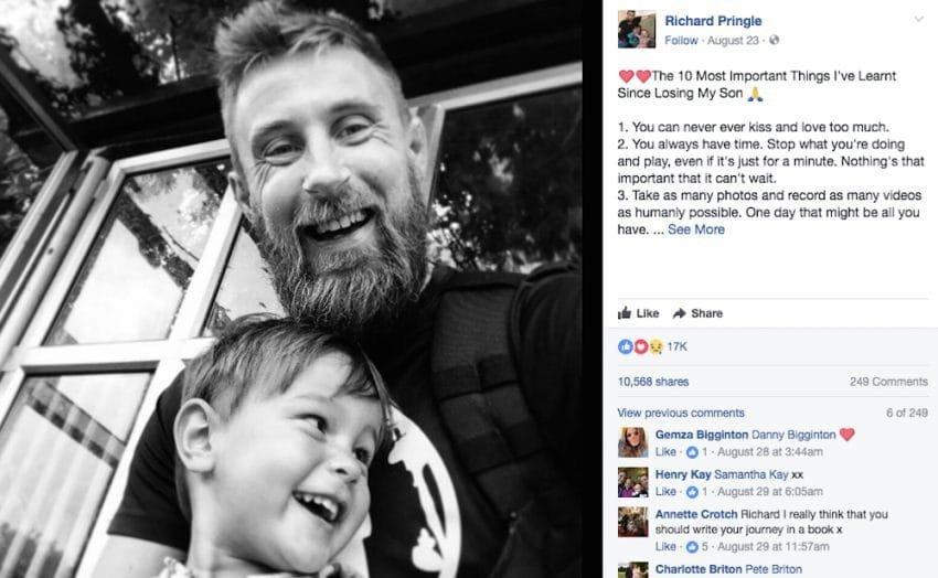homem perdeu filho - Homem perdeu filho de 3 anos e compartilhou 10 regras que todos os pais devem seguir