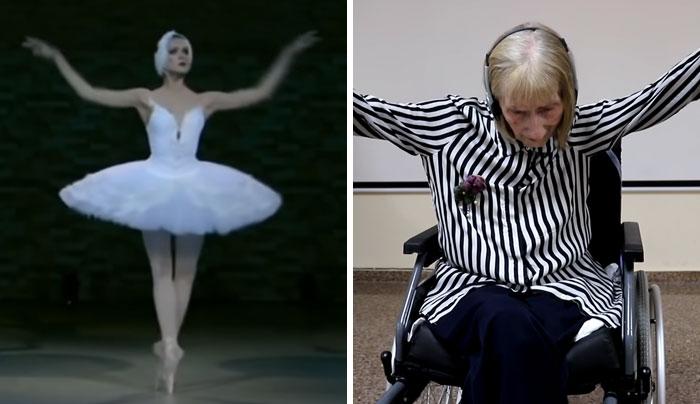 swan lake dance alzheimers ballerina marta gonzalez 3 - Bailarina com Alzheimer ouve 'Lago dos Cisnes' e relembra a dança em emocionante vídeo