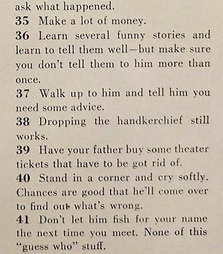 conquistando um marido net - Artigo de 1958 com '129 MANEIRAS DE CONSEGUIR UM MARIDO' mostra o quanto o mundo mudou
