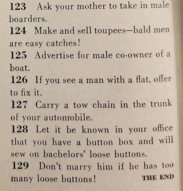 final materia marido - Artigo de 1958 com '129 MANEIRAS DE CONSEGUIR UM MARIDO' mostra o quanto o mundo mudou