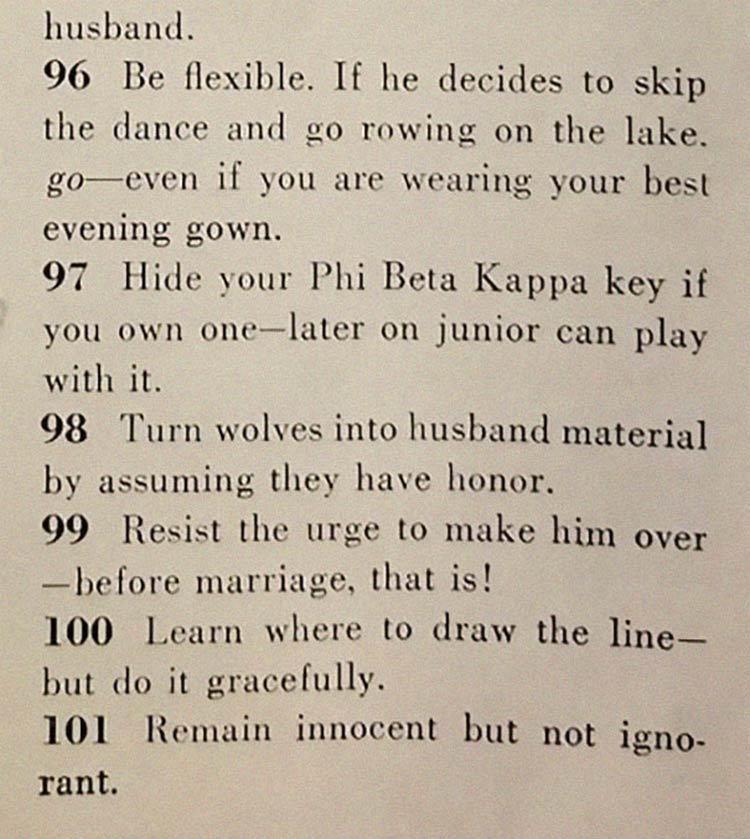 formas arranjar marido - Artigo de 1958 com '129 MANEIRAS DE CONSEGUIR UM MARIDO' mostra o quanto o mundo mudou