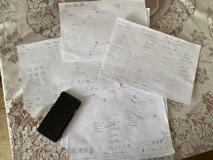 """neta desenha um manual para o avo aprender a enviar audios pelo celular2 - Neta desenha um """"manual"""" para o avô aprender a enviar áudios pelo celular"""